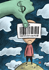 The Future of Capitalism (Ben Heine) Tags: sky money flower clouds commerce child traffic symbol market character capital cartoon business commercial artists exploitation future dollar shops barcode capitalism sell dreamer enfant unhappy crisis argent stockexchange lepetitprince greed organs soldes vendre trafic gourmandise vente humancondition monnaie politicalart magasins finances codebar rveur codebarre benheine tempsmodernes humantrafic crisefinancire traficdtreshumains