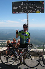 Steve Maxwell celebrates his Ventoux 3-Peat