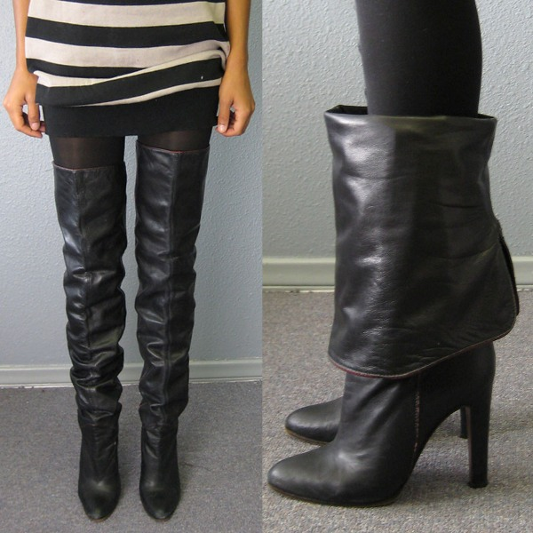 Fall 2009 thigh-high boots vintage 1
