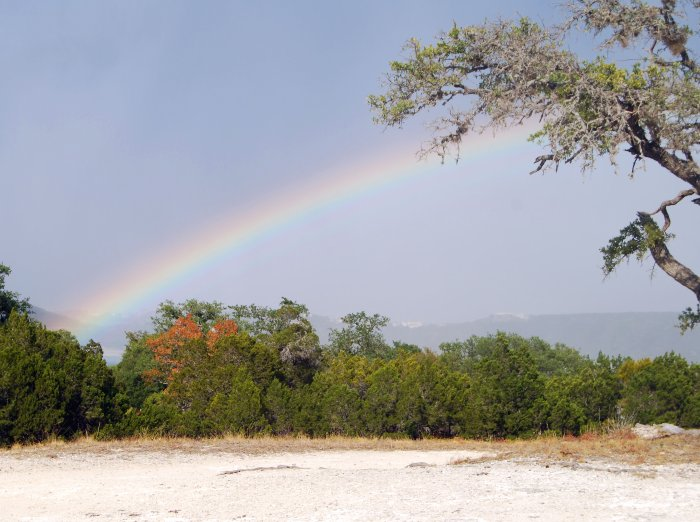 Rainbow over Lake Travis - POD - 9-28-09
