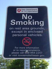 DSC03735 (nathanm) Tags: usa sign reststop iowa smoking i35 lamoni draconian authoritarian