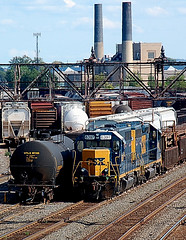 DSC_0001 (firephoto25) Tags: railroad urban ny yard train d50 nikon industrial rail rochester csx csxt 6397 utlx