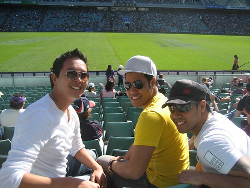 Me, Chris, and Jeff at the Roosters Rugby Game