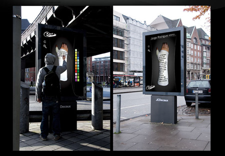 Street artist interactive billboard