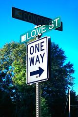 One Way Street (Scott Coulter) Tags: street sign georgia pentax outdoor oneway smyrna lovestreet k100d pentaxk100dsuper