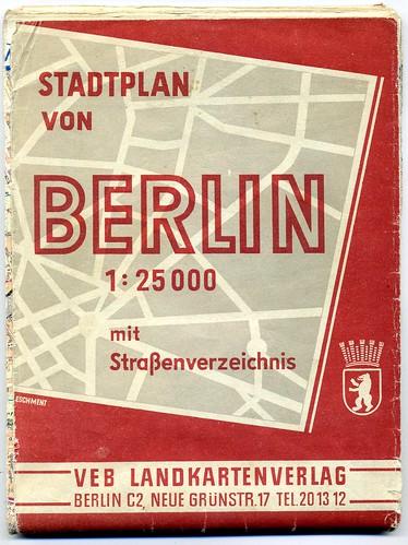Stadtplan von Berlin 1:25000  c 1952