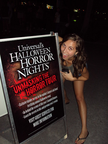 A sign at the entrance of Halloween Horror Nights!