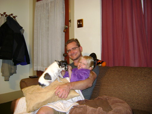 Sophia, Daddy, and Coco