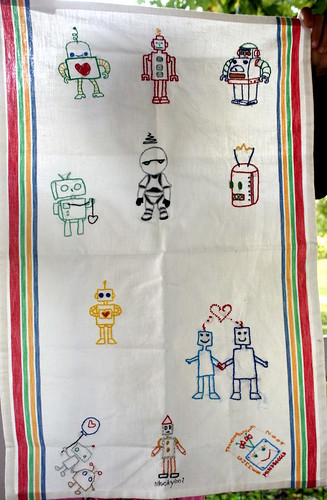 Tea Towel Summer Swap by mindboggld.