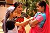 Waiting to perform (Light and Life -Murali முரளி) Tags: girls girl happy bangalore celebrations cheers karnataka devika onam malayalam malayalee samruddhi devu shriramsamruddhi