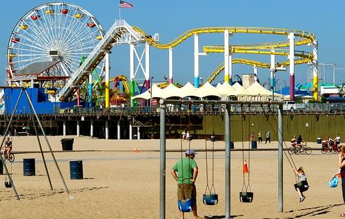 View Towards Santa Monica Pier, Los Angeles