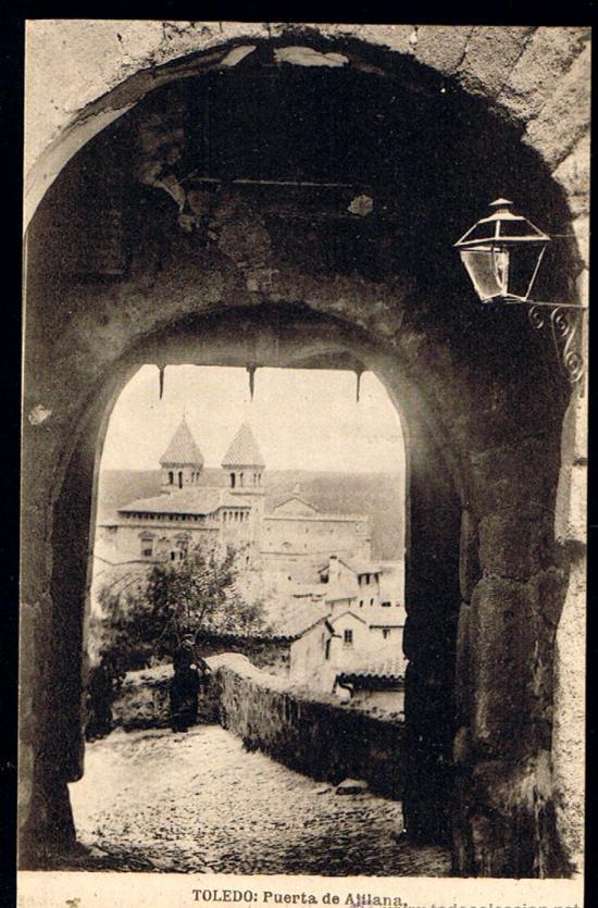Puerta de Valmardón de Toledo hacia 1900. Foto Hauser y Menet