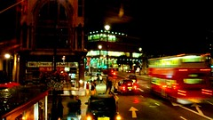 I love this shot (FernandoArajo) Tags: street uk bus london night lights centro londres noite trfego
