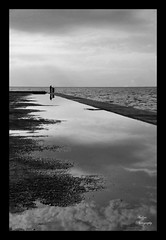 Theres a fine line between fishing and just standing on the shore like an idiot.. (andzer) Tags: bw nikon scout andreas explore 2009 zervas andzer horizonsofculture horoc  wwwandzergr