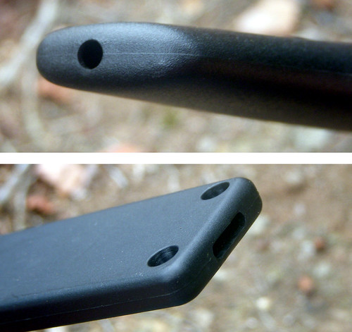Sheath drainage holes