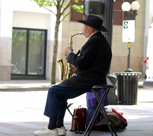 Street Corner Saxophonist