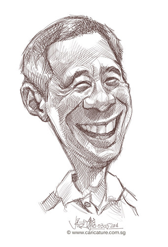 Digital caricature of Singapore Prime Minister Lee Hsien Loong - 1