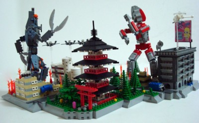 LEGO Ultraman vs Baltan by Lino M