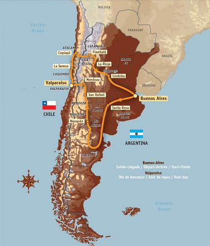 Mapa Recorrido 2009 by DAKAR Rally.