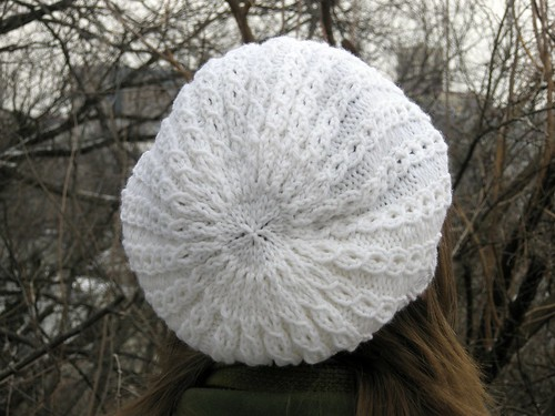 Back of slouchy hat