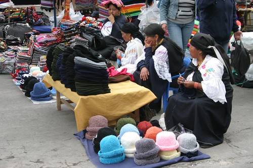 Indígenas at the Otavalo market...