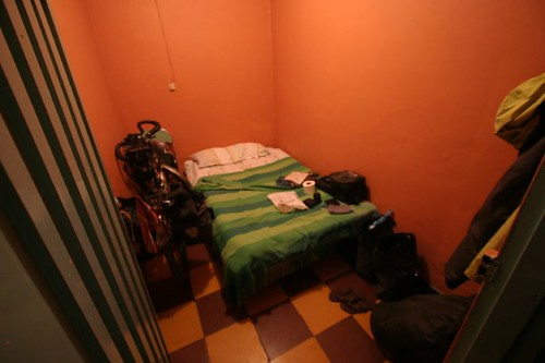 "My tiny ""prison cell"" room in Timbío village, southern Colombia."
