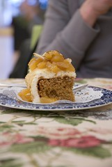 cozy tea carrot cake