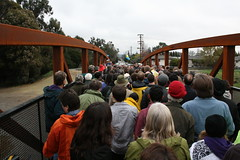 Pedestrian bridge grand opening