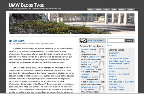 UMW Blogs Tags blog