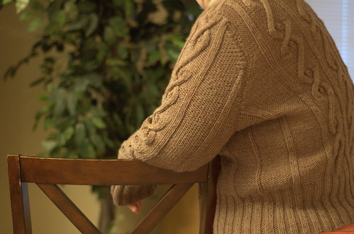 cabled zipped cardigan
