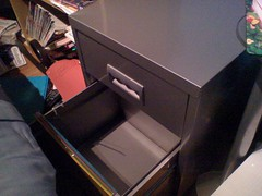 Filing Cabinet Open drawer