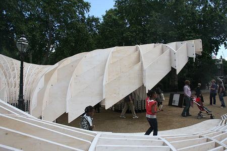 Sophisticating Swoosh Pavilion Architectural Design