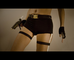 Lara Craft - The Movie (sosij) Tags: self gun laracroft filmstill hnt 1020mm gluegun tombraider gluestick hotglue cinemascope fgr angeliajolie cyclinggloves hotmeltglue blackknickers laracraft browniebelt brownieguidebelt sparegluestickjustincase hotgluesticksbatman 3mgluegun aseverthiswasprobablymorefunforme thighstrapping 38thankyou hotstickyaction