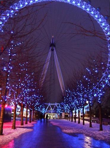 london eye night. Winter Night Time London Eye