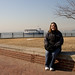 Debbie at Ellis Island