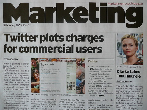 Marketing magazine, 11 February 2009