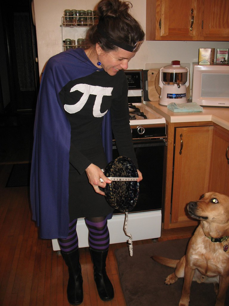 pi girl explains diameter to the dog