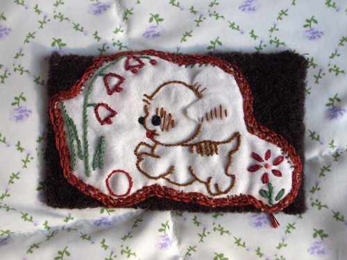 puppy embroidery