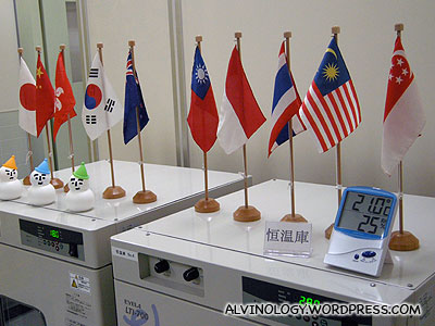 I dont know what this Singapore flag is about, but its nice to see it there