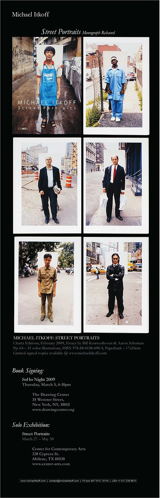 Michael Itkoff's Street Portraits - Exhibition and Book