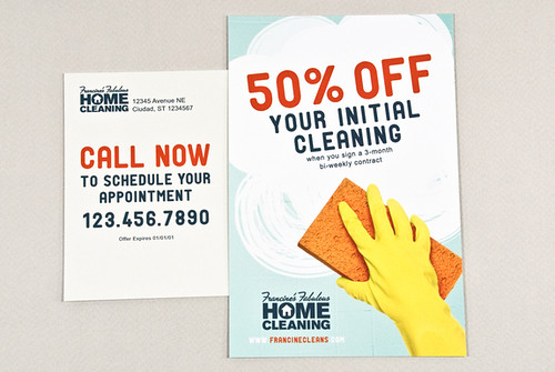 Cheery Homecleaning Postcard