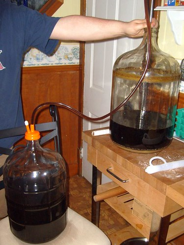 racking old ale into secondary