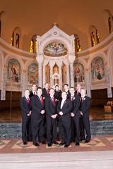 Buckman 0151 (harmonweddings.com) Tags: wedding church saint groom bride catholic veil dress bridesmaid rosary louisville groomsmen rd newburg agness