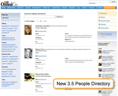 New 3.5 People Directory Screenshot