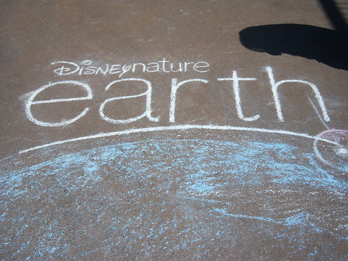 Earth Day Chalk Art at the AMC Downtown Disney