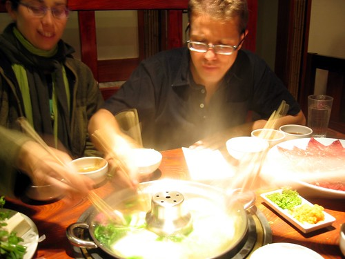 Monique and Josh at Shabu Tatsu