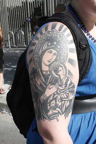 Railing · Embarcadero · Virgin Mary Sleeve Tattoo