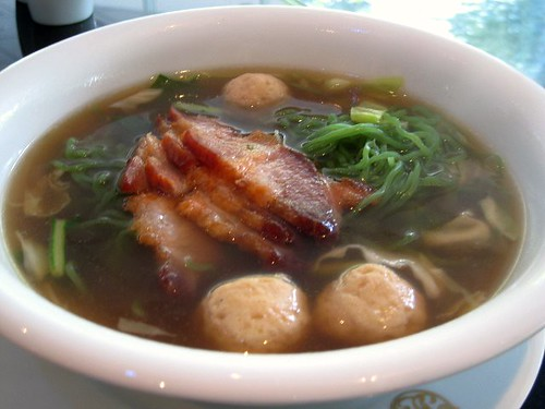 Noodle Soup with BBQ Pork and Pork Balls