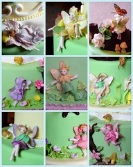 Flower Fairies (JacqueBenson) Tags: flowers fairies faeries fondant flowerfairies enchantedgarden idontwanttogrowup sugarpaste cakesdusoleil jacquebenson sugarwonderscakeshow
