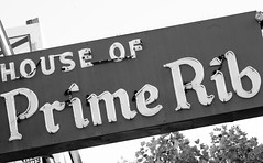 House of Prime Rib (Thomas Hawk) Tags: sanfrancisco california blackandwhite bw usa blackwhite neon unitedstates unitedstatesofamerica houseofprimerib